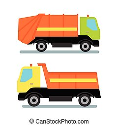 laranja, caminhão, dois