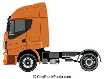 laranja, caminhão