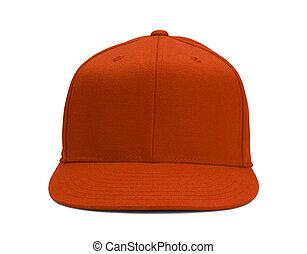 laranja, chapéu beisebol