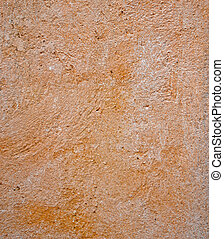 laranja, concreto, parede