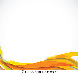 laranja cor, abstratos, ondulado, fundo
