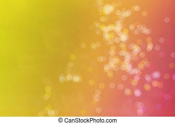laranja, cor-de-rosa, bokeh, para, abstratos, verão, fundo