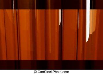 laranja, cortinas