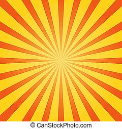 laranja, e, amarela, brilho