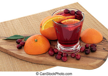 laranja, e, arando, saúde, bebida