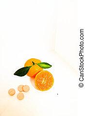 laranja, e, pílula