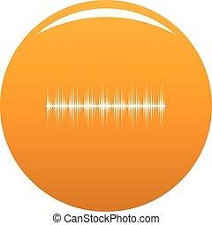 laranja, equalizador, vetorial, digital, ícone