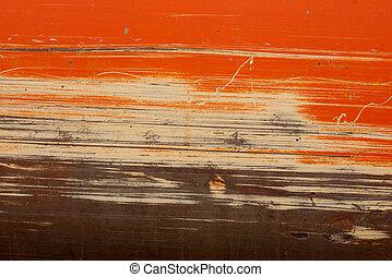 laranja, equipamento, construção, raspado