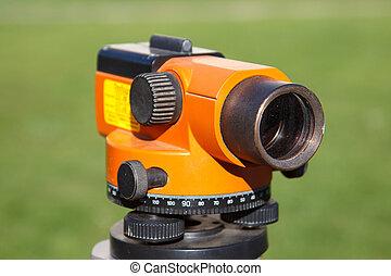 laranja, equipamento, landsurveyor