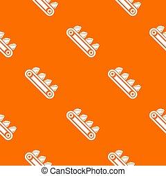 laranja, equipamento, mina, padrão