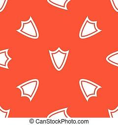 laranja, escudo, padrão