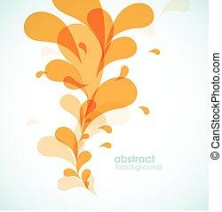 laranja, experiência., abstratos