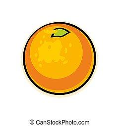 laranja, experiência., branca, isolado
