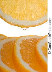 laranja, fatias