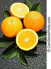laranja fresca, fruta