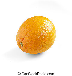 laranja fresca, isolado, branco