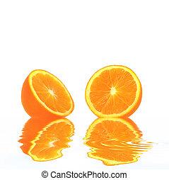 laranja, frescor