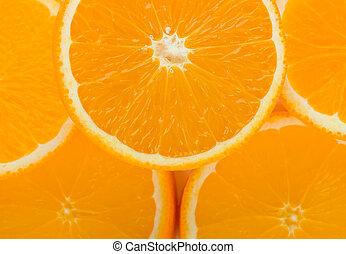 laranja, fruta, fundo