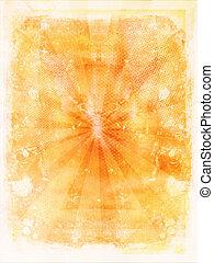 laranja, grunge, fundo
