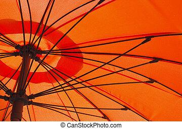 laranja, guarda-chuva