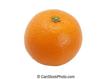 laranja, isolado, ligado, um, branca