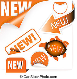 laranja, itens, jogo, elementos, novo