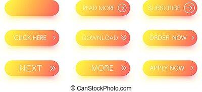 laranja, jogo, isolado, white., ícones