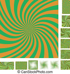 laranja, jogo, verde, espiral, fundo