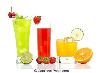 laranja, kiwi, moranguinho, suco