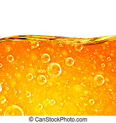 laranja, líquido, fluxos, onda