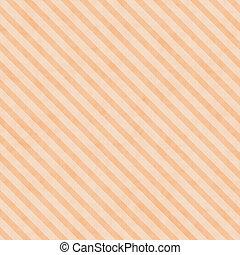 laranja, listrado, pálido, tecido, fundo