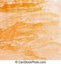 laranja, lona, textura, fundo