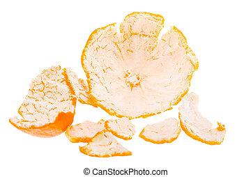 laranja, mandarin, casca