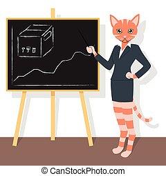 laranja, mapa, apontar, gato