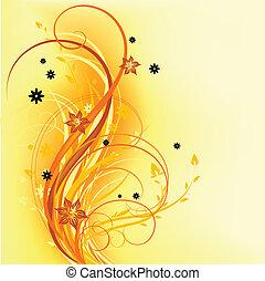 laranja, natural, desenho