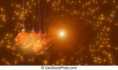 laranja, ornamentos, com, estrelas
