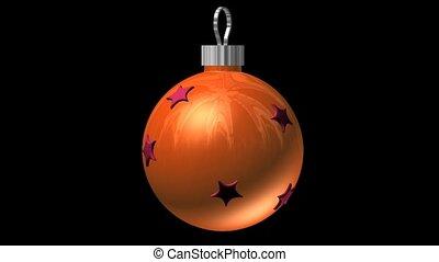 laranja, ornamentos, estrelas