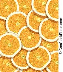 laranja, padrão, fruta