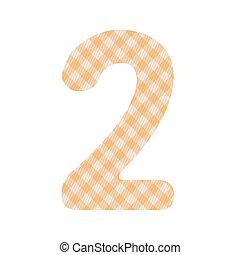 laranja, padrão, quadrados, numere dois