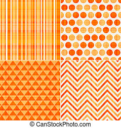 laranja, padrão, seamless, textura