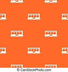 laranja, padrão, trem, vetorial, rapidamente