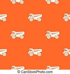 laranja, padrão, vetorial, caminhão