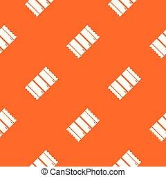 laranja, padrão, vetorial, chocolate