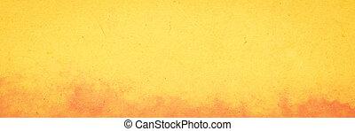 laranja, papel, fundo, amarela