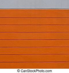 laranja, parede concreta, cinzento