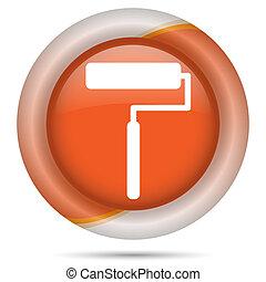 laranja, plástico, ícone