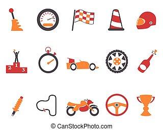 laranja, raça, jogo, ícones