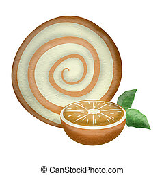 laranja, símbolo, fruta