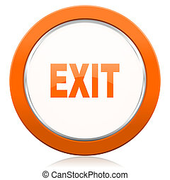 laranja, saída, ícone