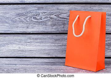 laranja, saco papel, com, cópia, space.
